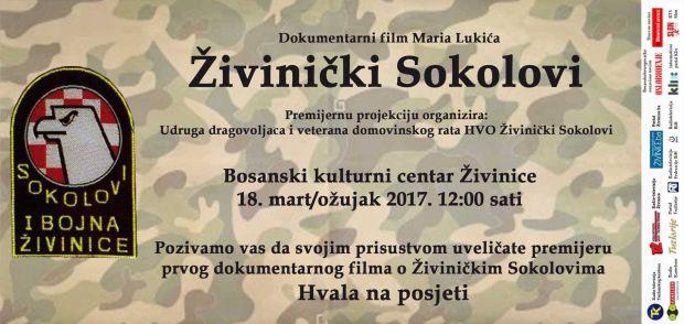 """Uz obljetnicu osnivanja premijera filma """"Živinički sokolovi"""""""