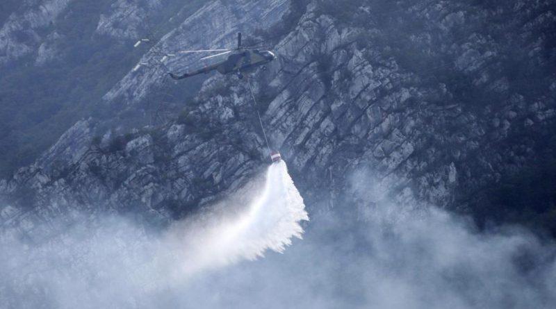 Požar kod Jablanice nije ugašen, potrebna daljnja pomoć helikoptera
