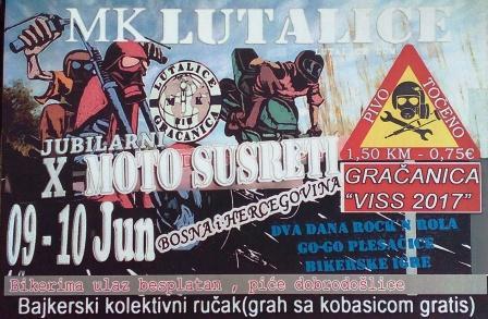 Danas i sutra (9. i 10. 6.) 10. motorijada na Visu u organizaciji MK Lutalice Gračanica!