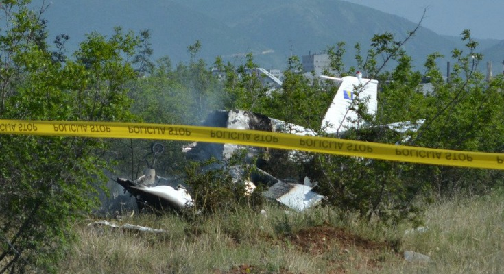 Avion kod Mostara pao zbog infarkta pilota