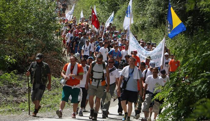 Posljednja etapa Marša mira, 5.000 učesnika stiže u Potočare