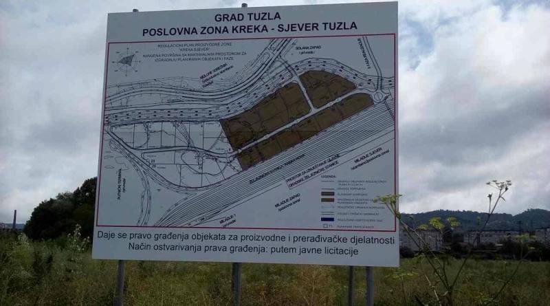 Poslovna zona Kreka-Sjever nudi povoljan zakup u trajanju od 40 godina
