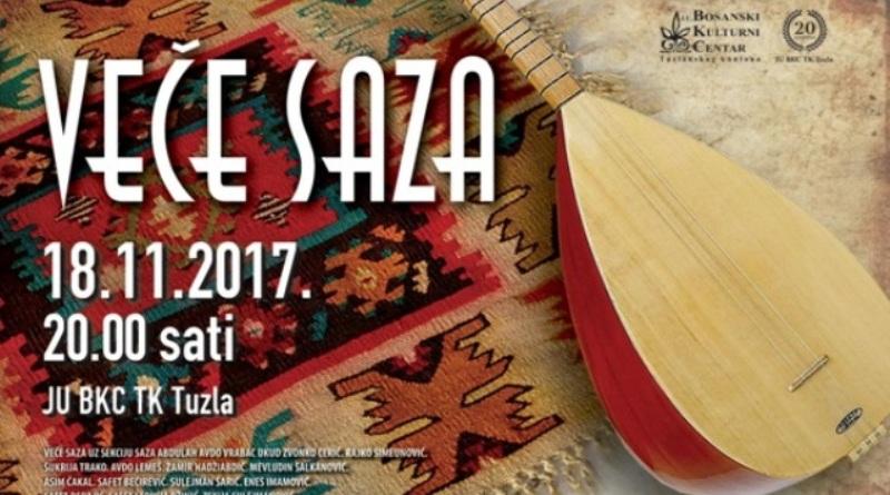 Veče saza u BKC-u TK u Tuzli u subotu 18. novembra u 20:00 sati