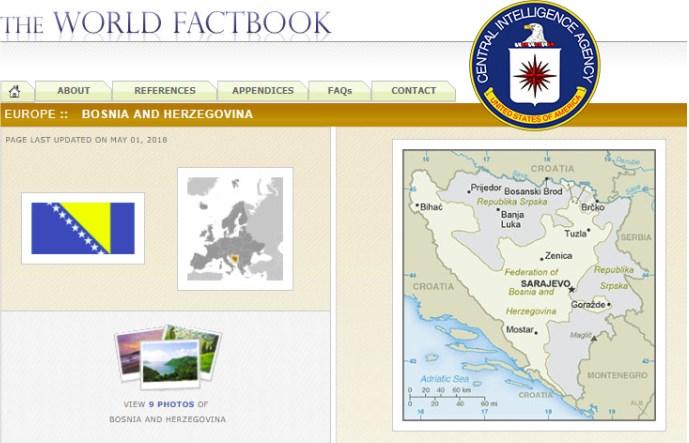 Kako CIA vidi Bosnu i Hercegovinu?