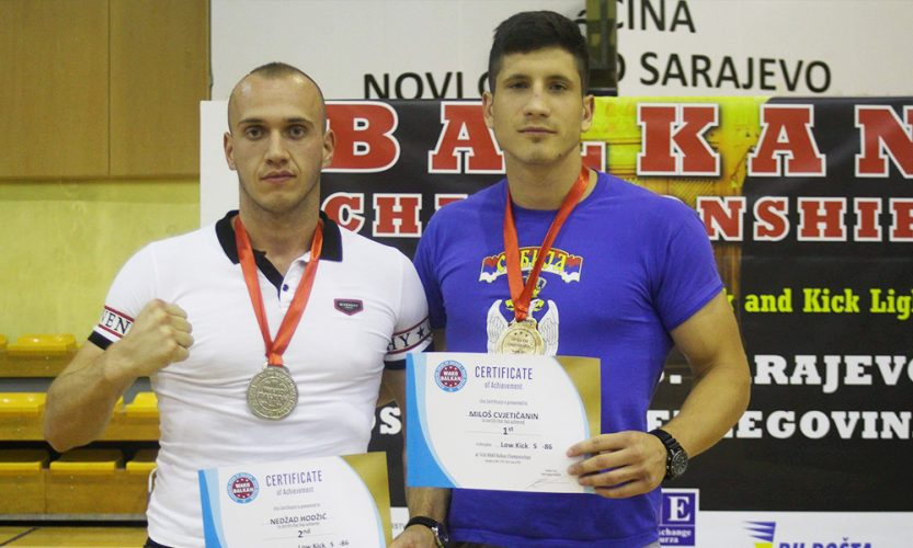 Tuzlanski sportisti Nedžad i Almin Hodžić na Balkanskom prvenstvu u kick-boxu osvojili dvije medalje