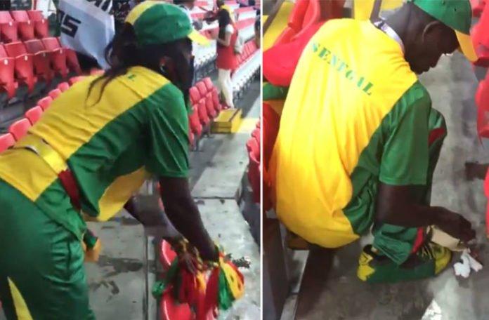 Gest za pohvalu: Navijači Senegala poslije utakmice čistili tribine