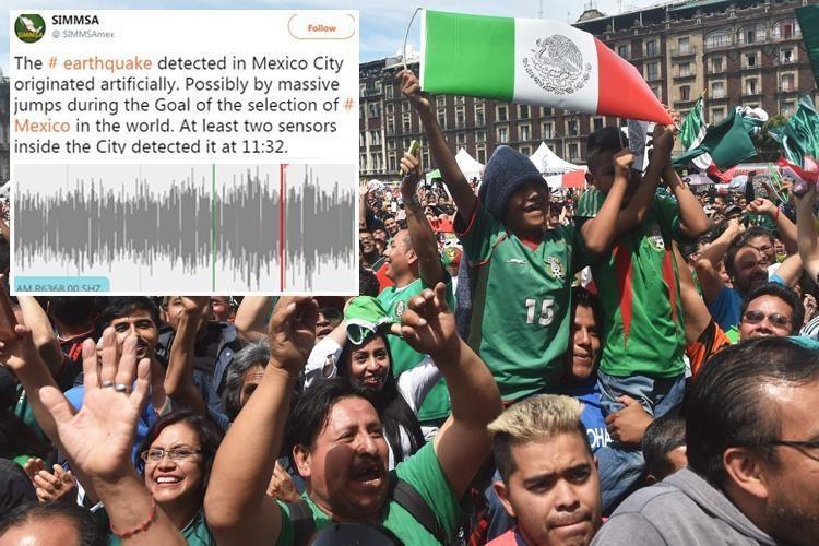 Navijači Meksika tokom slavlja aktivirali senzore za zemljotres