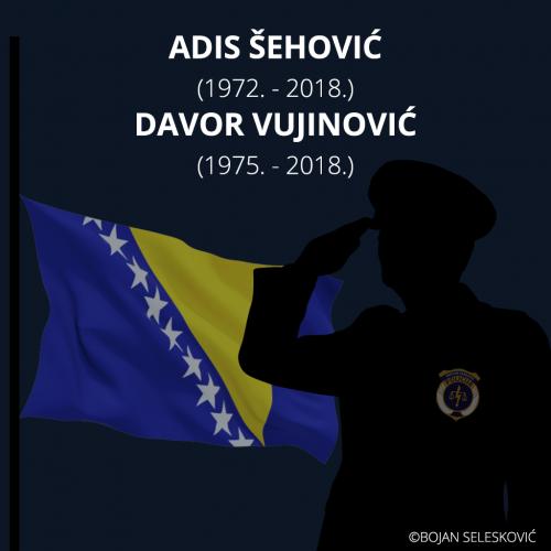 Dan žalosti u BiH: Cijela država oplakuje policajce Adisa Šehovića i Davora Vujinovića