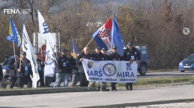 Učesnici Marša mira 'Srebrenica- Vukovar' nastavili put iz Sapne