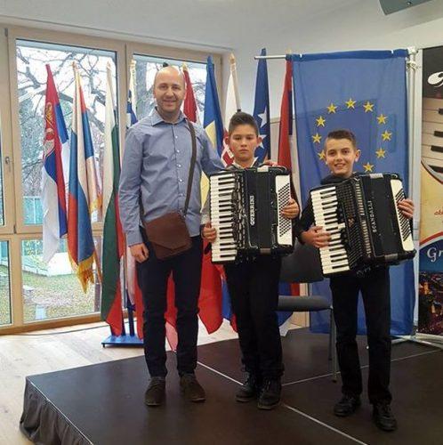 Prva OŠ: Nagrade za najbolje mlade harmonikaše u Gracu