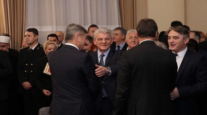 Komšić i Džaferović upriličili svečani prijem u Predsjedništvu BiH