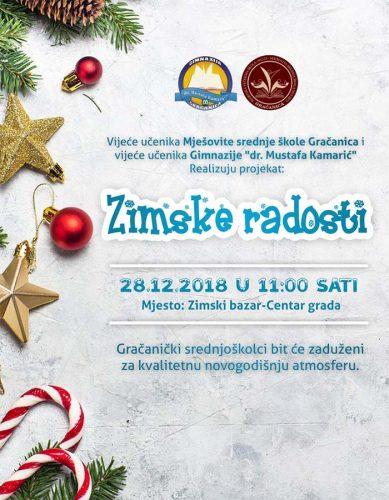 """Učenici MSŠ i Gimnazije realizuju projekat """"Zimske radosti"""""""
