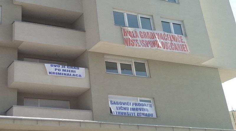 Novi protesti prevarenih kupaca u SPO 15. maj: Grad i investitor nemaju ni volje niti želje da riješe naš problem!