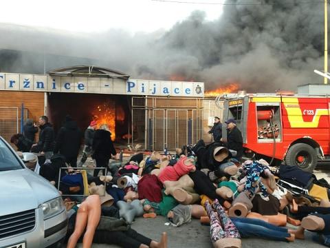 Utvrđuju se uzroci požara, razmjere i štete: Dva tužioca na pijaci u Tuzli