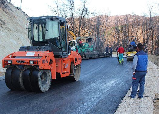 Asfaltirana nova dionica regionalnog puta  Sapna - Priboj