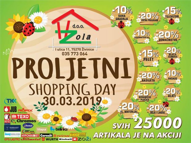 ZH-ZOLA ŽIVINICE: U subotu Proljetni Shopping Day