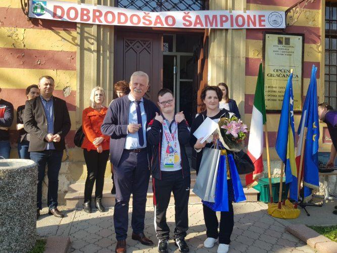 Gračanica:Organizovan doček za  šampiona Hasana Sejdinovića