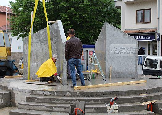 Sapna - Nastavljeni radovi na izgradnji centralnog spomen obilježja