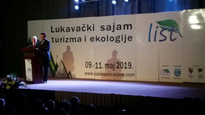 """Premijer TK Jakub Suljkanović zvanično otvorio 17. Međunarodni sajam turizma i ekologije """"List"""" Lukavac"""