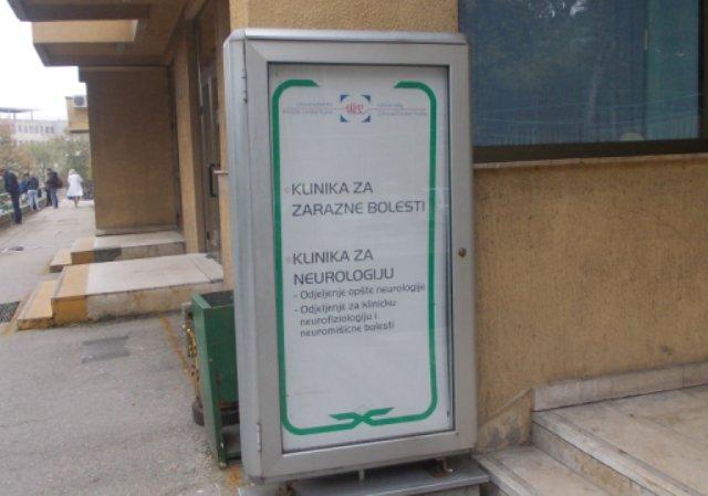 Sve zaražene osobe bit će smještene u izolatorij u Klinici za infektivne bolesti UKC-a Tuzla