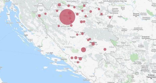 Koronavirus u BiH: Do sada najviše zaraženih u Banjoj Luci, slijedi Konjic