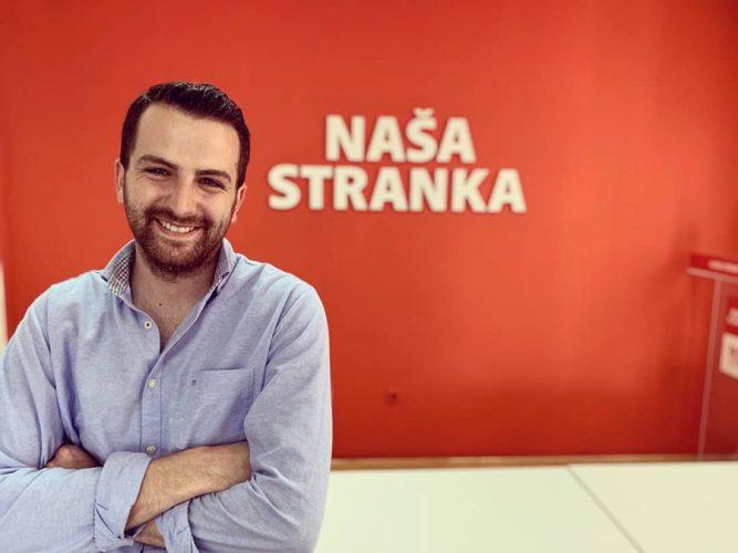 Omer Berbić, kandidat Naše stranke za Gradsko vijeće Tuzla:  Mladi nisu floskula već dio sistema