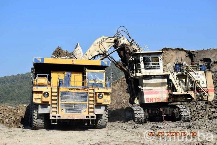 RMU Banovići:Proizvodnja na površinskim kopovima po planu