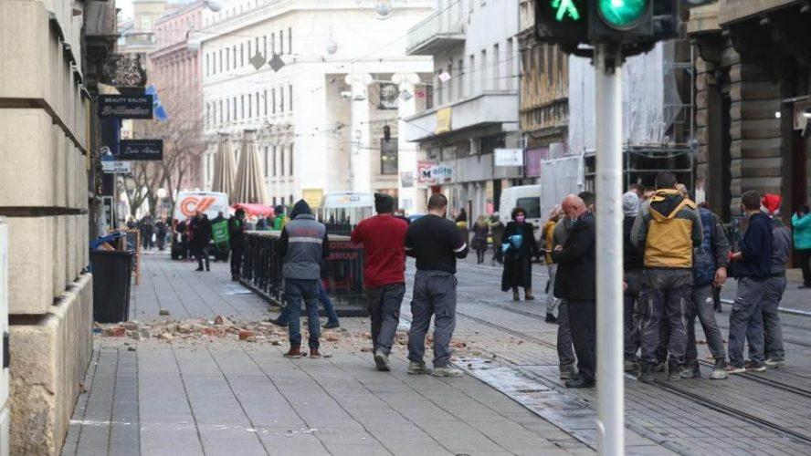 U Zagrebu oštećenja na objektima, pootpadale fasade