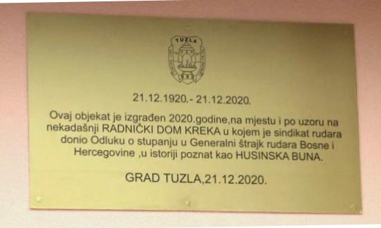 U povodu obilježavanja 100 godina Husinske Bune i Dana rudara otvoren novoizgrađeni Dom u Kreki