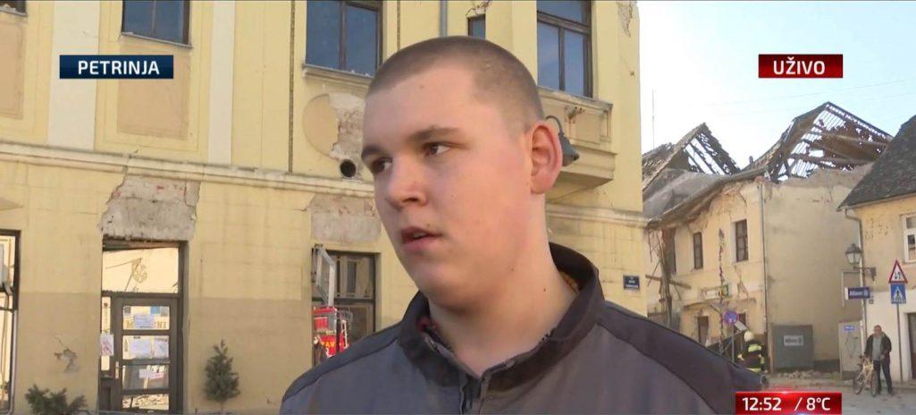 Mladić koji je svjedočio zemljotresu: U zadnji čas smo spašavali glavu