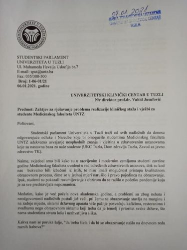 SPUT: Upućen zahtjev za rješavanje problematike neodržavanja praktičnih vježbi na Medicinskom fakultetu
