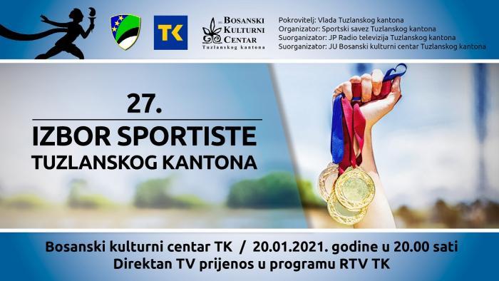 Izbor najboljih sportista godine TK održat će se u BKC-u 20. januara