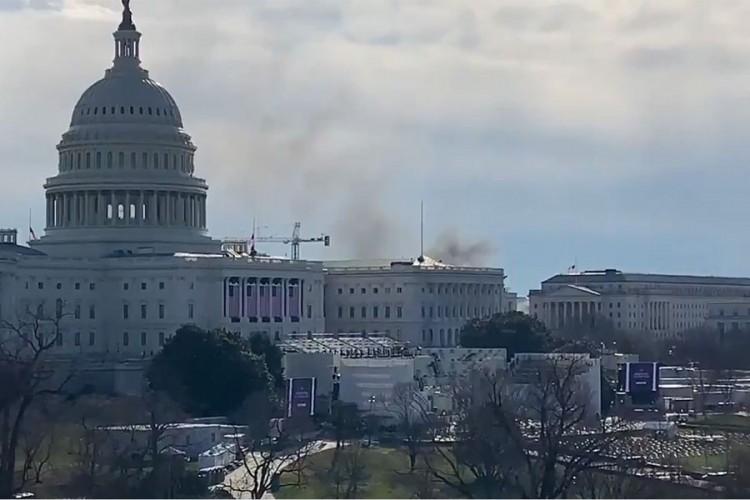 Ukinuta blokada Kapitola, požar izbio u obližnjem naselju