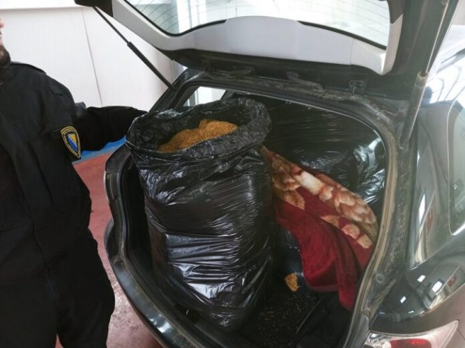 Regionalni centar Tuzla: Pronađeno 250 kg sitno rezanog duhana ukupne vrijednosti 50 hiljada KM