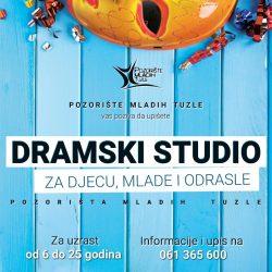 Pozorište mladih Tuzle: Produžen rok za upis u Dramski studio za djecu, mlade i odrasle 2021.