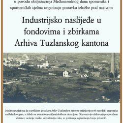 """Postavka izložbe """"Industrijsko naslijeđe u fondovima i zbirkama Arhiva Tuzlanskog kantona"""""""