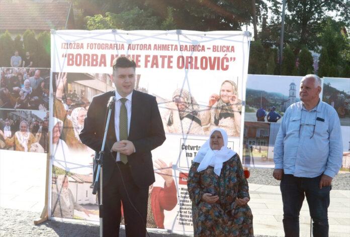 "Ministar Muratović otvorio izložbu fotografija pod nazivom ""Borba nane Fate"""