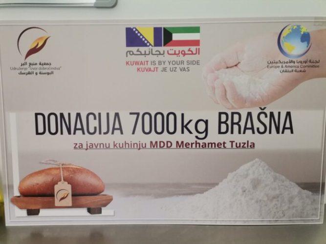 """Sedam tona brašna donirano Narodnoj pekari """"Merhamet"""" Tuzla"""