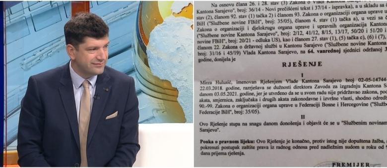 Mirza Hulusić smijenjen sa pozicije direktora Zavoda za izgradnju Kantona Sarajevo