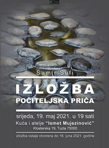 """U Ateljeu """"Ismet Mujezinović"""" u Tuzli otvorena je izložba slika """"Počiteljska priča""""autora, Samira Sufija"""
