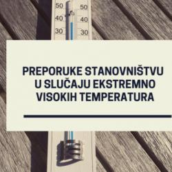 Preporuke stanovništvu u slučaju ekstremno visokih temperatura