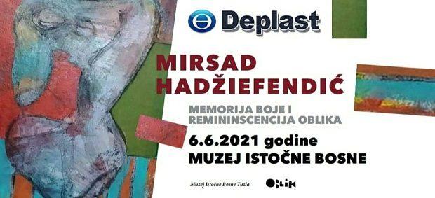 """Otvorena izložba """"Memorija boje i reminiscencija oblika"""" slikara Mirsada Hadžiefendića"""