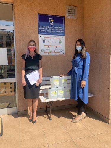 Bosnalijek donirao dezinfekciona sredstva ustanovama za edukaciju i odgoj djece sa poteškoćama u razvoju širom BiH