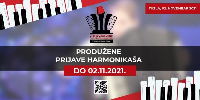 """3. Međunarodno takmičenje harmonikaša """"Sevdalinko u srcu te nosim"""" 2. novembra u BKC u Tuzli"""