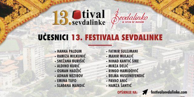 U Tuzli od 02. do 04. novembra 13. Festival Sevdalinke uz eminentna estradna imena