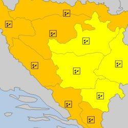 Narandžasto upozorenje za veći dio BiH