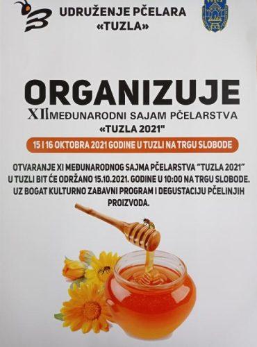 """Ovog vikenda na Trgu slobode """"XII Međunarodni sajam pčelarstva Tuzla 2021"""""""